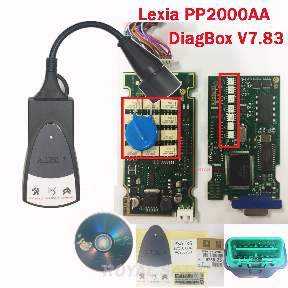 V7.83 Full chip high quality Lexia 3 with FW 921815C Diagbox V7.83 PP2000 Lexia-3 for Peugeot/for Citroen Diagnostic Tool