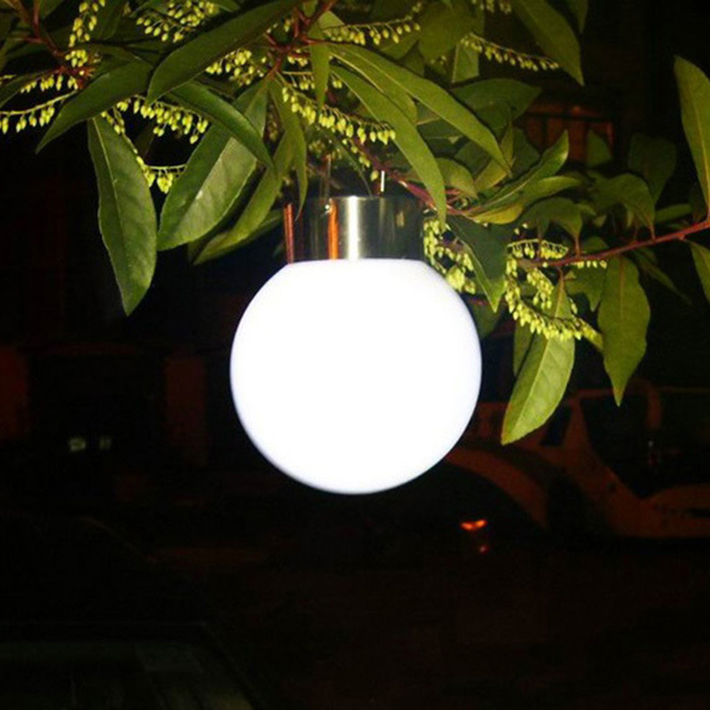 tanbaby outdoor decorative hanging lights solar power led lantern nightlight white global ball lampa for garden - Outdoor Solar Lanterns