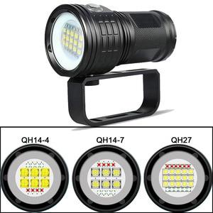 Image 5 - Diving Lanterna Flashlight 18650 Torch Underwater 80m Photography Light Video Lamp  L2 White Red Blue LED Scuba Photo Fill light