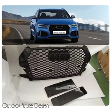 Car Styling Auto Parts RSQ3 Style Update Front Middle Grill Grille Fit For Audi Q3 RSQ3 Vehicle 2015-2016 year