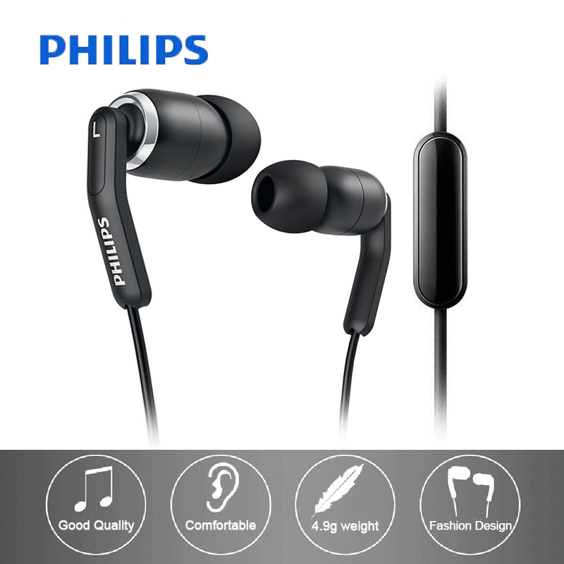Original Philips HiRes SHE9730 In Ear Wired Headset Asymmetric Headset Cable For Galaxy S10 Support Official