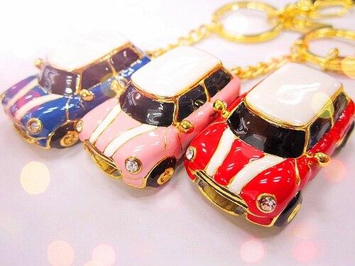 Luxury Rhinestone Crystal Jewelry Car USB 2.0 Flash Drive Pen Pendrive Memory Stick Disk Thumb Car 8GB 16GB 32GB 64GB Mini Gift
