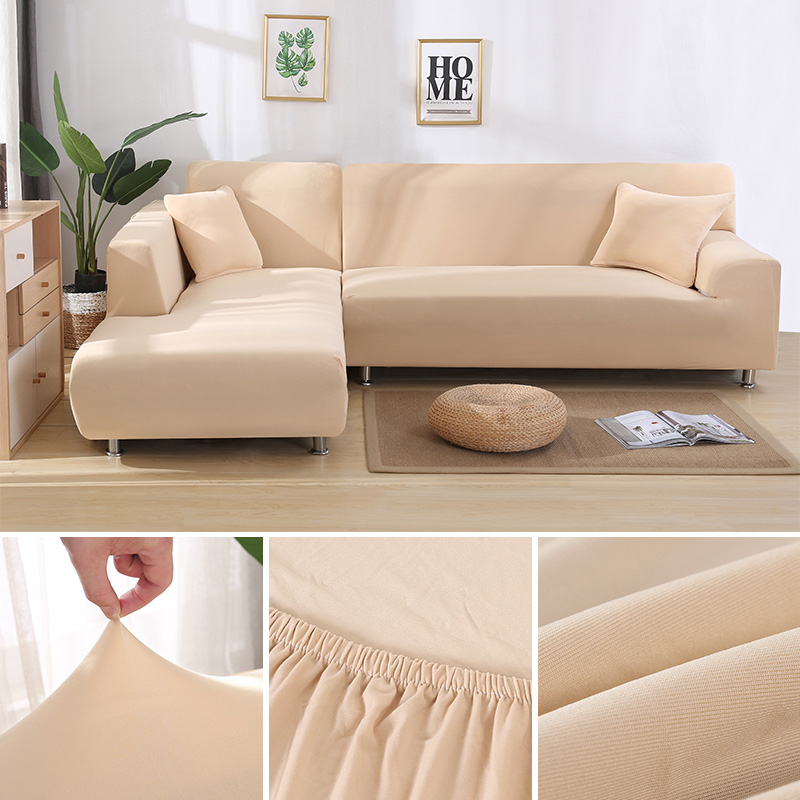 US $4.0 50% OFF|Stretch L Shaped Sofa Cover for Living Room Chaise Longue  Sofa Cover Sectional Slipcover Corner Sofa Cover L Shape Elastic 2 pcs-in  ...