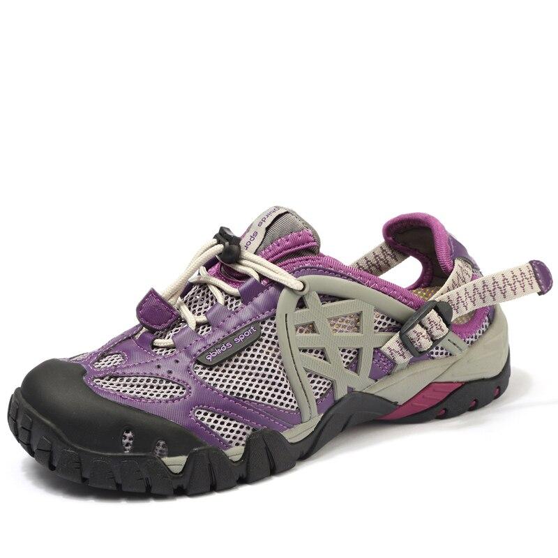 Femmes été chaussures de plage en plein air chaussures d'eau à séchage rapide respirant maille chaussures de sport pour femme couleur violet livraison gratuite 058