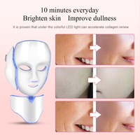 7Colors LED Face Neck Mask Photon Light Therapy Skin Lifting Anti Wrinkle Acne Removal Freckle Reduce Face Skin Massager Machine