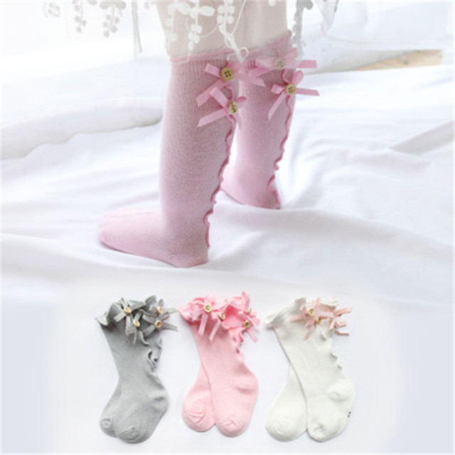 Retail 1 piece Unicorn bowknot children's socks baby girl prince socks lovely socks baby high socks WZ11