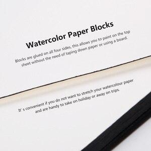 Image 3 - פול רובנס 300g/m2 בצבעי מים נייר Pad 20 גיליונות 100% כותנה עור כיסוי ספר בצבעי מים עבור Ourdoor ציור 16 K/32 K