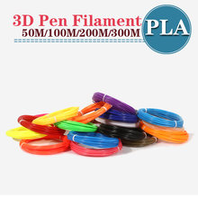 Pen 3d printer pla filament ABS 1.75mm 3d plastic filament pla 3d pen pla plastic 20 kleuren plaNo vervuiling(China)