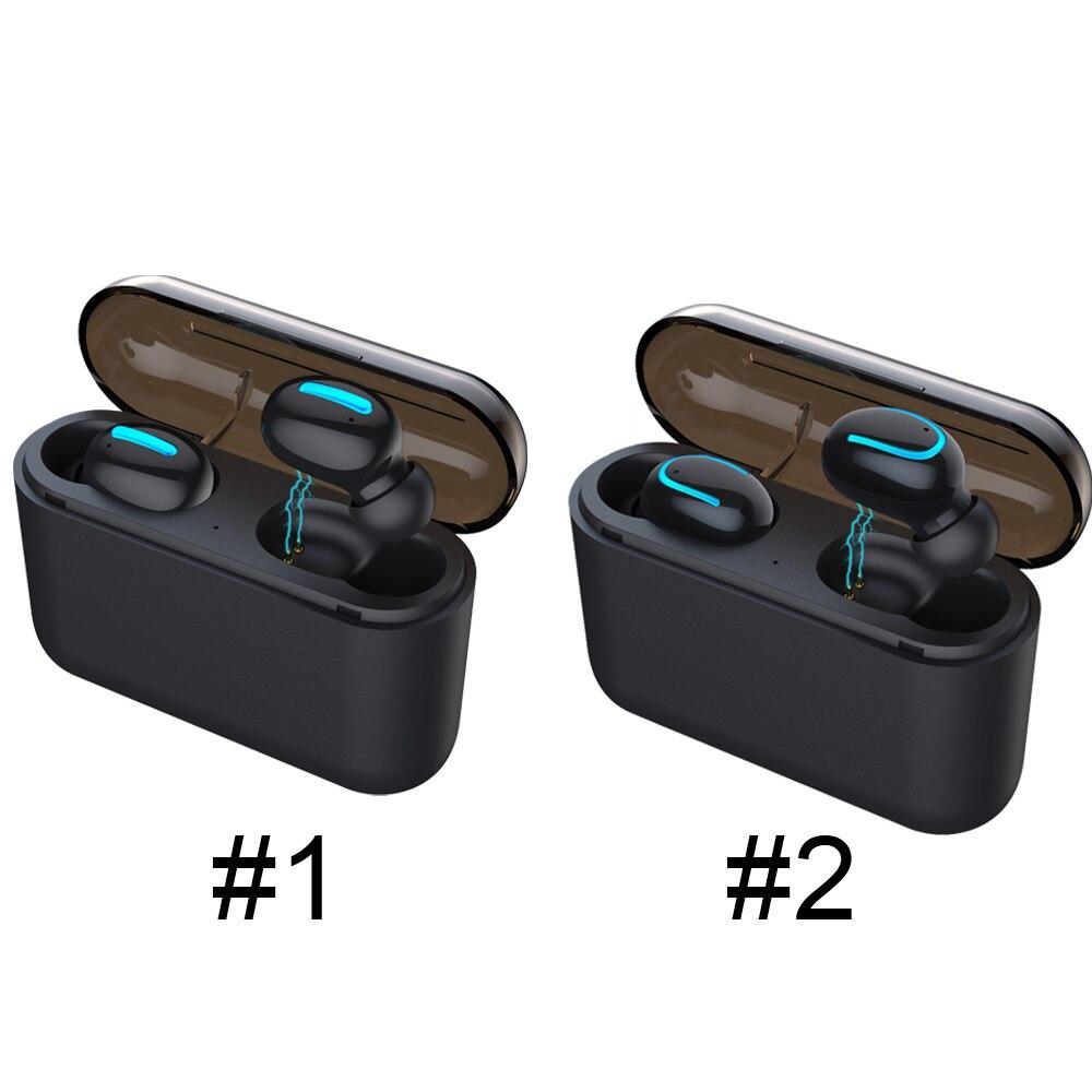 Стерео наушники с зарядной коробкой мини беспроводной Bluetooth наушники Redial Bluetooth 5,0 невидимые наушники 1200 мАч