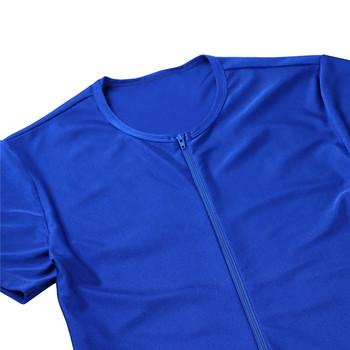iEFiEL Newest Mens One-piece Short Sleeve Front Zipper Boxer Briefs Bodysuit Jumpsuit Leotard Underwear Male Nightclub Clothes