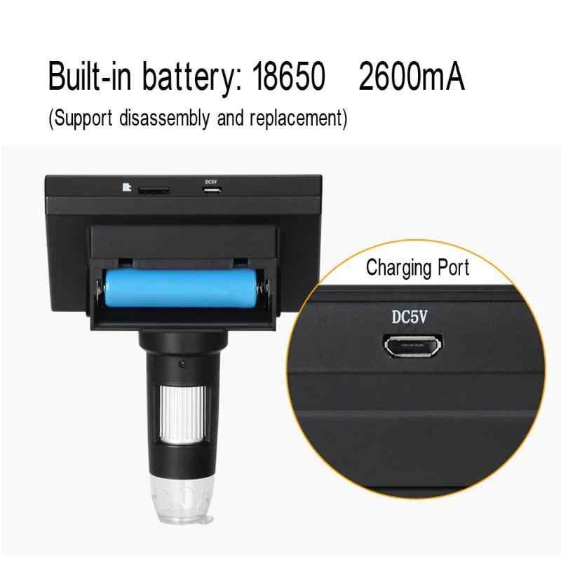 """Микроскоп 1000x2,0 Мп USB цифровой электронный 4,3 """"ЖК-дисплей Дисплей VGA микроскоп с 8LED и стент для печатных плат материнская плата ремонт"""