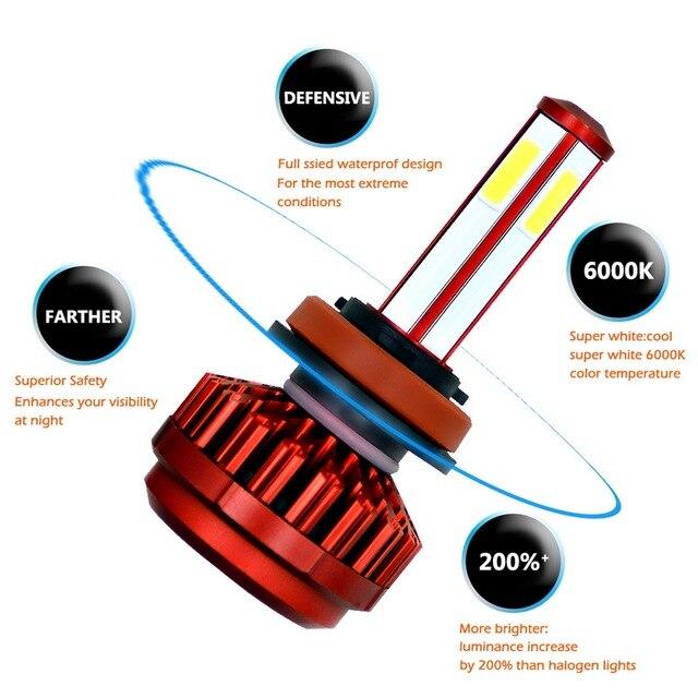 Ampoule de phare de voiture | 9003 HB2 H4 9005 H7 H8 H11 9006 HB3 6000 HB4 12v 24v, phare automobile étanche K