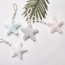 Star and Heart Hanging Wood Beads