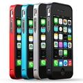 Para iPhone4 4S Luxo Nenhum Parafuso 0.7mm Ultra Fino Metal Bumper com botão para apple iphone 4s 4 4g aluminum case de metal quadro
