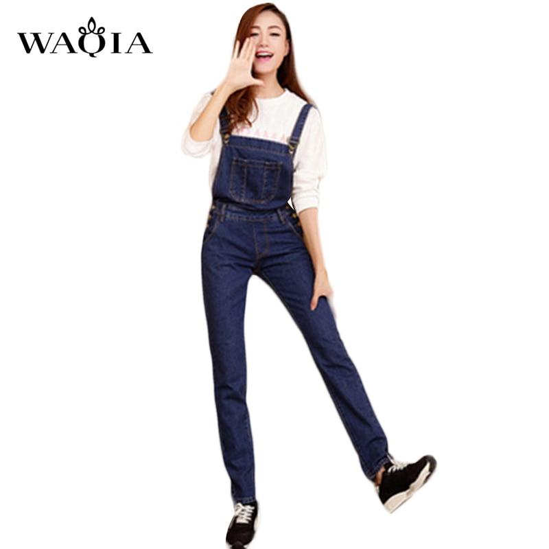 Simple Sexy New Women Fashion Vintage Backless Cross Denim Jumpsuit Wide Leg