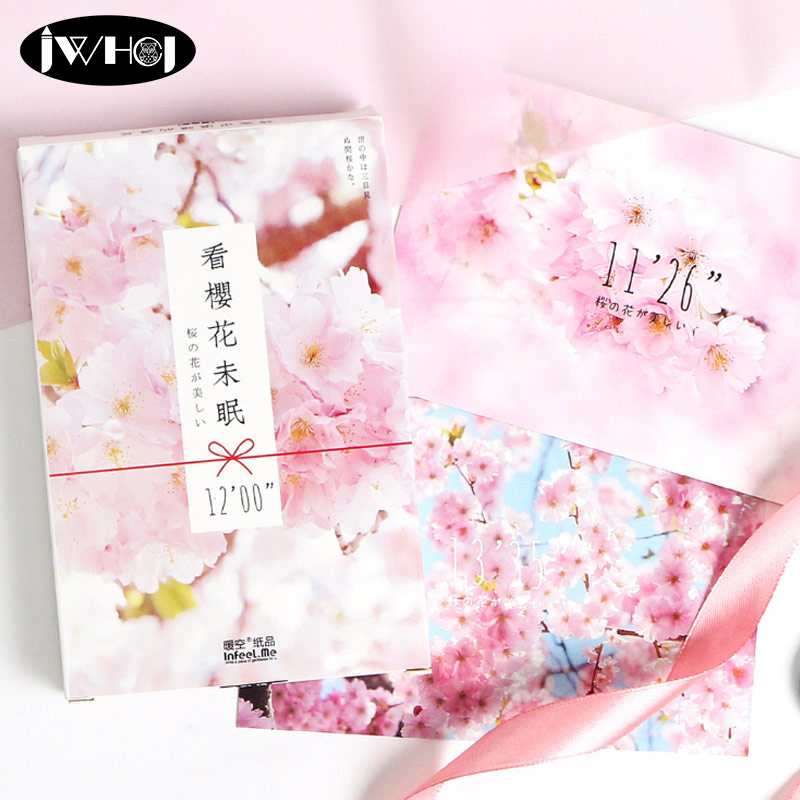 Gentle 30 Pcs/lot Pink Cherry Blossoms Postcard Photography Landscapes Greeting Card Christmas Card Birthday Card Message Gift Cards An Indispensable Sovereign Remedy For Home Home & Garden