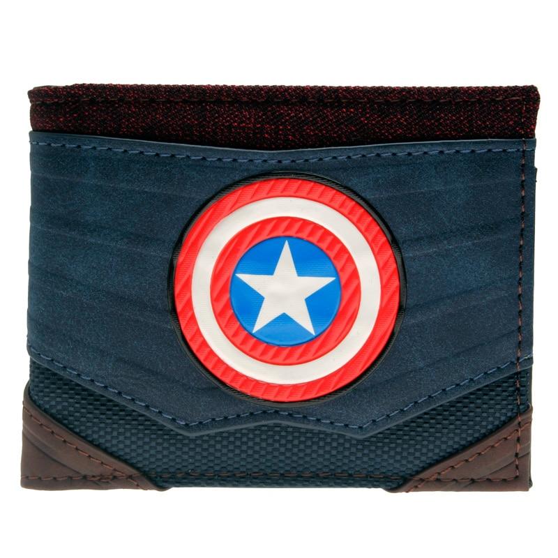 Captain America Bifold Wallet DFT-13009 zelda wallet bifold link faux leather dft 1857