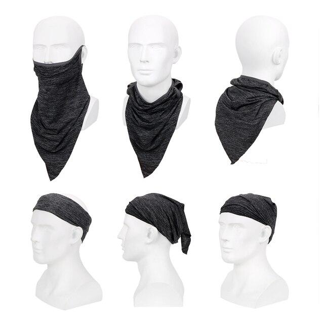 FORAUTO Half Face Motorcycle Cycling Face Mask Triangle Breathable Dustproof Headband Anti-UV Viscose Fiber Sport Scarf 2