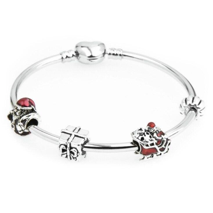 La Asociación de plata Original pulseras reflexiones joyería de pulsera de mujer, cadena de malla de alta calidad