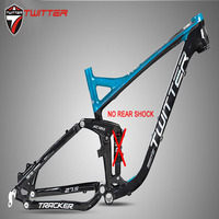 Twitter Tracker Full Suspension Mountain Bike Frame Aluminum Rear Shock Absorber 27.5er AM XC MTB Bicycle Softtail Frame