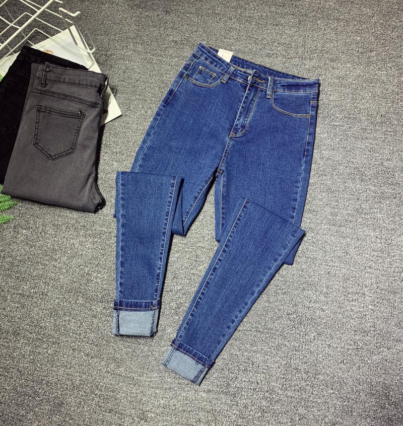 Cheap Wholesale 2019 New Spring Autumn Hot Selling Women's Fashion Casual  Denim Pants XC4