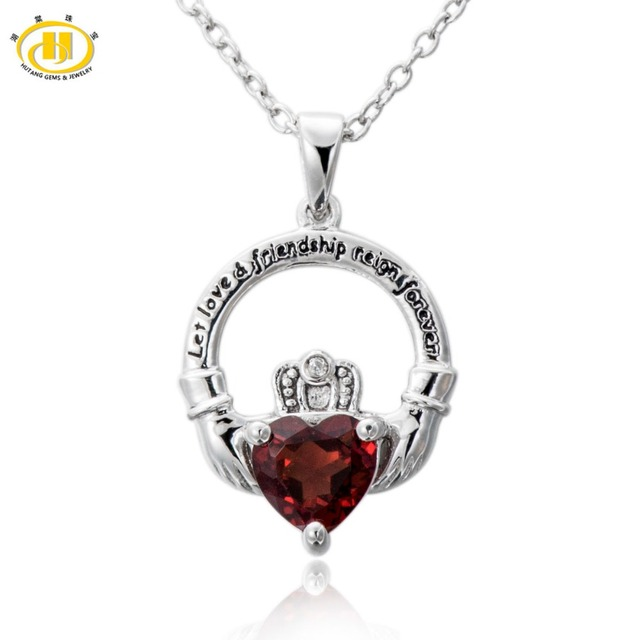 birthstone december pendant product large claddagh jewelry