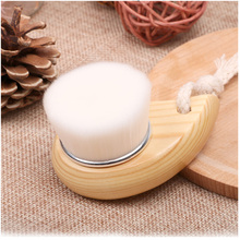 Wooden Handle Comma Wash Brush Handmade Wooden Handle Cleansing Brush Wash Artifact Deep Clean Beauty Tools