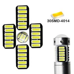 Image 3 - 2 adet yüksek güç DRL lambaları 30SMD 4014 H3 LED yedek araba ampulleri sis farları gündüz farları beyaz kırmızı mavi amber