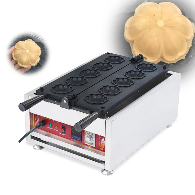 Digital Waffle Maker Commercial 110V 220V Cherry blossoms Shape Waffle Baker Machine