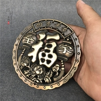Rare Pure Copper Antiques Collection Brass Hollow Copper Carving Hanging Decorative Copper Miscellaneous Pisces 10x10cm