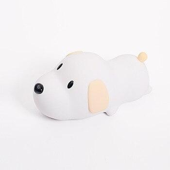 Papa pies silikonowe dotykowy Led lampka nocna z USB Puppy akumulator rozrządu ściemniania doprowadziły lampa sufitowa światło dla dziecka dzieci prezent na boże narodzenie