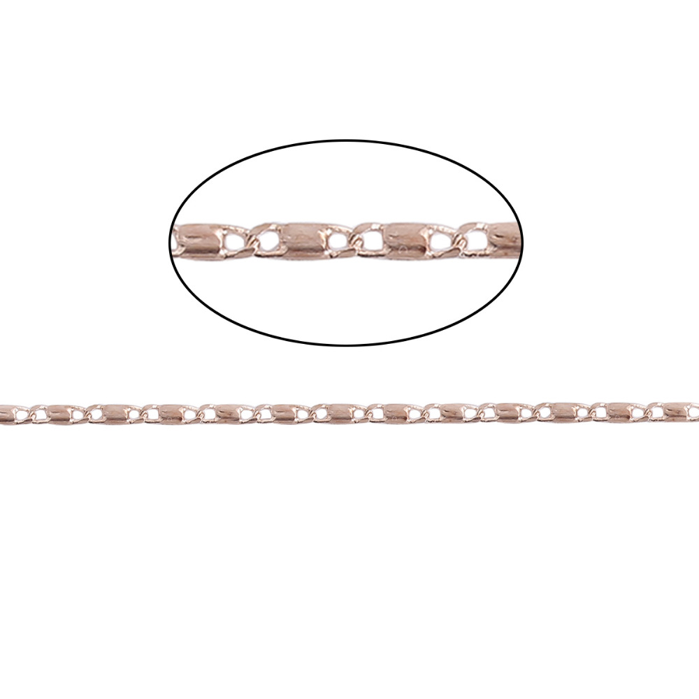 DoreenBeads Copper Rose Gold DE Gaulle Chain Findings DIY Jewelry Making Components 2018 New 5.5x1.6mm( 2/8 x 1/8), 5 Meters