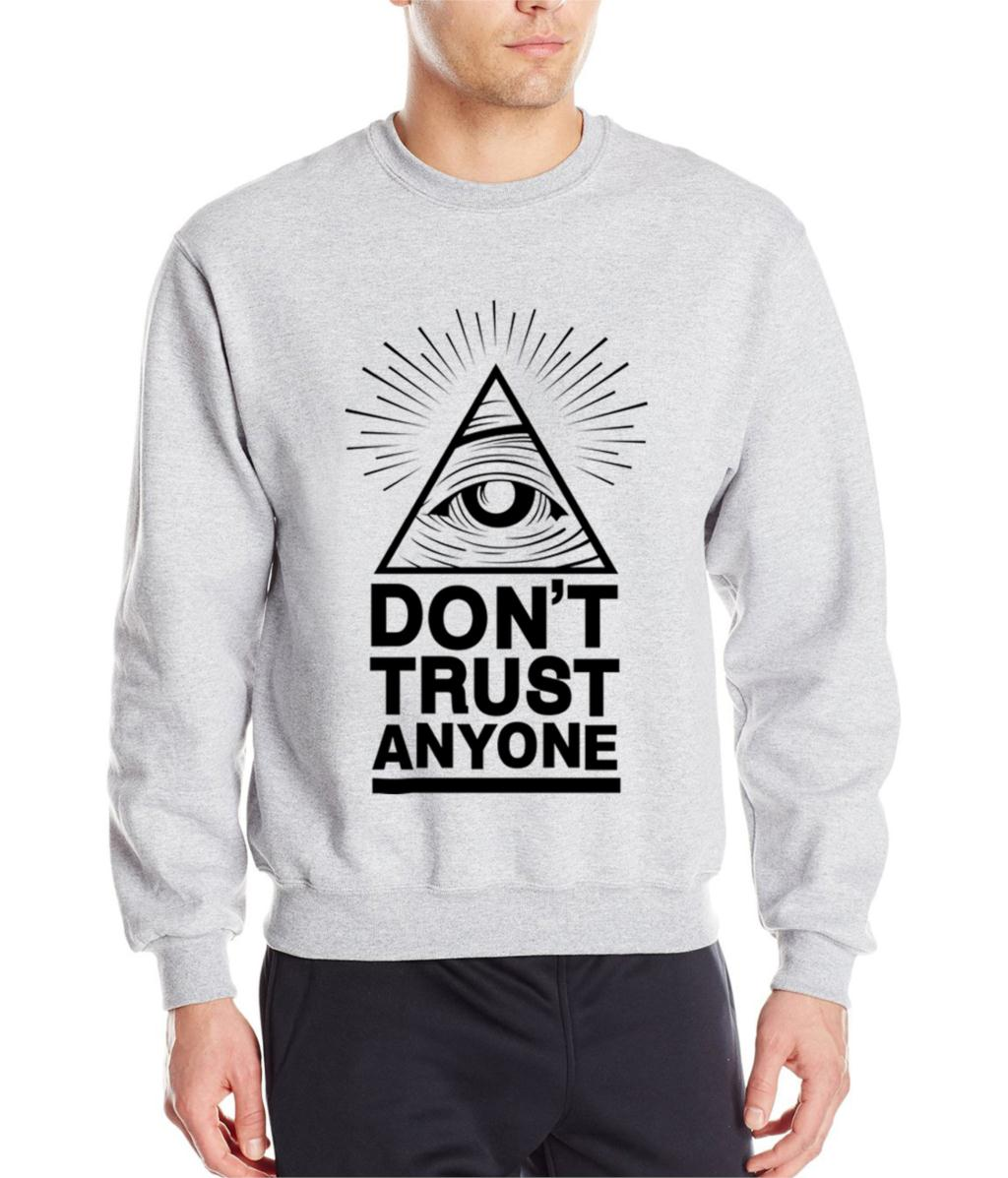 New 2017 Fashion Don't Trust Anyone Autumn Winter Tracksuit Men Hoodies Hip Hop Sportwear Sweatshirts Male Harajuku Kpop Hoodies