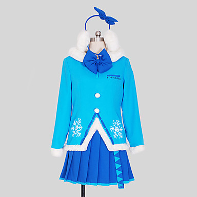 Vocaloid Miku Neige Cristal Paillettes Cosplay Costume