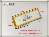 3 7V 20000mAH 1658135 Polymer Lithium Ion Li Ion Battery LG Cell For Tablet Pc Cell