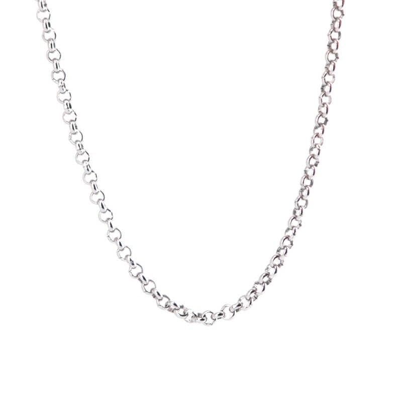 Długi naszyjnik ze stali nierdzewnej 2.5mm rolo naszyjnik łańcuchy dla Pearl Cage lockets i olej do dyfuzora wisiorek medalion kobiet