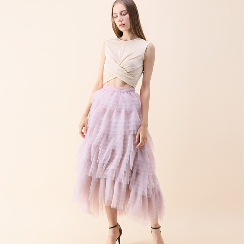 8434843c9b Swan Cloud Waterfall Tulle Skirt in Lilac Fashion More Layered Tulle Maxi  Skirt Personalized Boutique Tiered Women Skirt