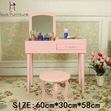 Луи мода мини макияж туалетный столик маленький шкаф комод на окно