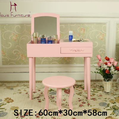 louis fashion mini makeup vanity dressing table small cabinet