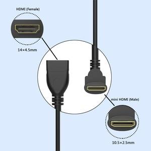 Image 3 - مقابل الزاوية اليمنى مصغرة HDMI ذكر إلى HDMI أنثى محول 90 درجة مصغرة HDMI محول كابل محول محول HDTV موصل