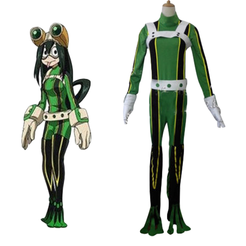 Japanese Anime Boku no Hero Academia Cosplay Tsuyu Asui Costumes My Hero Academia Halloween Carnival Cosplay Costumes Full Set