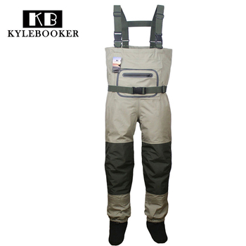 Breathable Hunting Fishing Chest Waders Waterproof and Lightweight  Fly Fishing Wader with stocking foot for Men and Women high jump camouflage fishing waders 0 7mm pvc breathable waterproof chest fishing wader unisex dichotomanthes end fishing waders