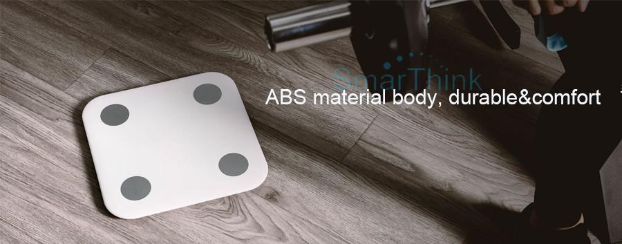 Nowy Oryginalny Xiaomi Mi Inteligentne Skala Tkanki Tłuszczowej Z Mifit APP i Składu ciała Monitor Z Ukrytym Wyświetlacz LED I Duże Stopy Pad 14