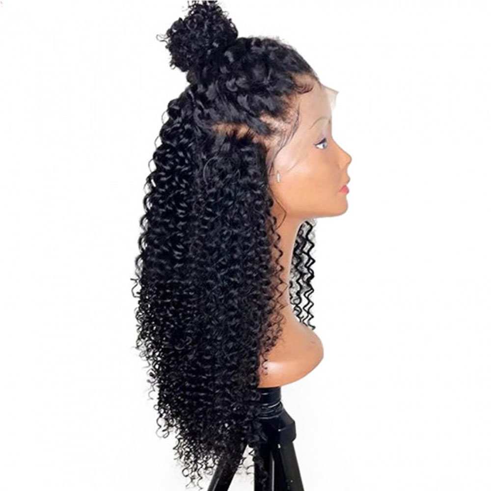 Kinky Curly Wigs Full Ends 13x6 Deep Part Lace Front Wigs Indian Remy Hair Prepluckced Bleached