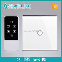EU Standard LED RF433 Domotica Remote Controle Livolo Light Wall Switches Crystal Glass Panel Wireless Wall