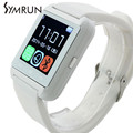 Symrun Fashion Hot Sale Bluetooth U8 Smartwatch Mobile Phone For Android System Support Many Languages luxury smartwatch