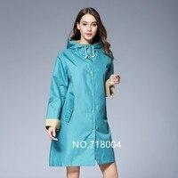 2018 mới nhất chiếc áo choàng Dài Thin Áo Mưa Phụ Nữ Không Thấm Nước Ánh Sáng Mưa Coat Ponchos Áo Khoác Nữ Chubasqueros capa de chuva