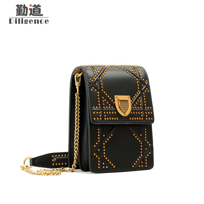 Genuine Leather Shoulder Bags For Women 2018 Chains Fashion Famous Brands Designer Style Handbags Summer Mini Phone Leather Bag