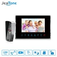 JeaTone 7 Wired Video Door Phone Intercom 1200TVL Dual Way Remote Unlocking Night Vision Home Security