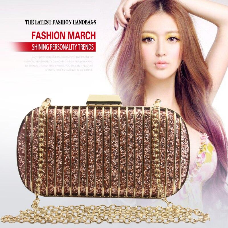 Для женщин клатч вечерняя сумочка; BS010 камуфляж блестящие Свадебная вечеринка модные Сумки цепь сумка Курьерские сумки коробка Металл Коше...